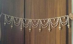 Moti toran Diy Diwali Decorations, Indian Wedding Decorations, Festival Decorations, Decoration Crafts, Hanging Decorations, House Decorations, Diwali Diy, Diwali Craft, Diy Arts And Crafts