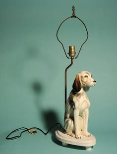 Vintage dog lamp - love this!