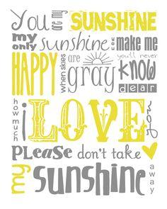 You Are My Sunshine Subway Art Print
