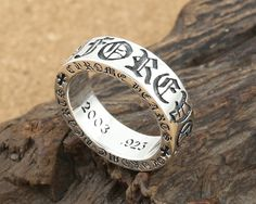 S925 sterling silver jewelry vintage ring men and women fashion crusade flower letter Forever eternal ch rings [CS187] - $50.00 : Thailand Silver Jewelry- Silver Jewerly Gift Store Jewelry from Thailand