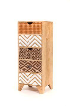 Chiffonnier design bois imprimé