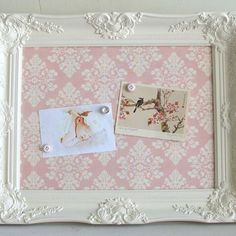 Magnet Board Shabby Chic Pink Damask Girls Vintage Frame Nursery Ornate Pink Wedding Sign Baby Shower Decoration Decor Picture Frame Gift