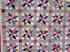 Emery's Stars Quilt Pattern - Combine the adorableness of baby quilt patterns, the convenience of HST quilt block patterns, and the design of star quilt patterns to create one stunning quilt.