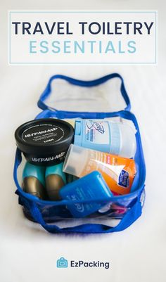 What to pack in your toiletry bag? This list has it all, plus some packing tips, travel products and our favorite recommended clear toiletry bag for travel! Road Trip Packing, Packing List For Vacation, Packing Tips, Travel Packing, Vacation Trips, Travel Bags, Weekend Packing, Budget Travel, Vacation Ideas