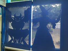 Library Halloween Silhouettes