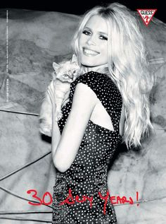 Claudia Schiffer photographed for Guess 30th anniversary campaign by Ellen Von Unwerth