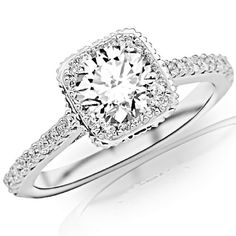 0.96 Carat GIA Certified Round Cut / Shape Stunning Vintage Halo Style Diamond Engagement Ring With Milgrain (... $3,090.00