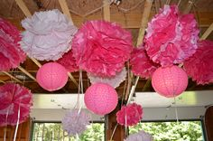 Nice way to decorate the ceiling in your garage for a party!