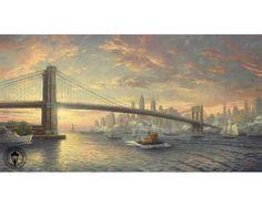 My NewYork!!   Spirit of New York by Thomas Kinkade