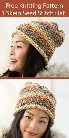 Beanie Knitting Patterns Free, Crochet Beanie Pattern, Loom Knitting, Free Knitting, Knitting Hats, Knit Crochet, Hat Patterns, Knit Hats, Knitting Ideas