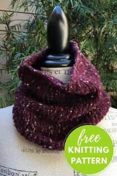 """Completed Cowl Measures: 22"""" circumference x 10"""" high  You will need:     * 1 ball Lang Ario Yarn, shown in Burgundy     * Size US 8 circular 16"""" needle     * Stitch marker  Gauge: 13.5 sts to 4"""" in st st  Free Pattern     * Cast on 75 stitches, join in the round being"""