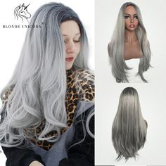 Long Ombre Blonde Synthetic Wigs with Bangs Brown Root Straight Wigs for Women Autumn Fashion Casual, Casual Fall, Straight Wigs, Wigs With Bangs, Light Blonde, Blonde Ombre, Synthetic Wigs, Wig Hairstyles, Hair Pins