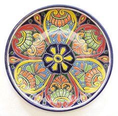 Mexican talavera plate.