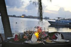 La Cigale:  lagoon side dining in Baie Nettle; Excellent service and very romantic....