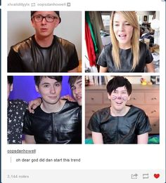 Dan Howell Leather Shirt March 2017