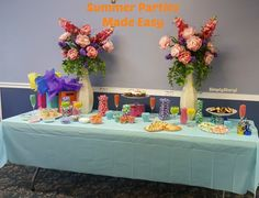 Summer Parties Made Easy - How I set up a candy buffet to celebrate summer!