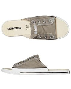 SURFSTITCH - MENS - FOOTWEAR - CONVERSE MENS CHUCK TAYLOR ALL STAR CUTAWAY BX SLIDE - ELEPHANT SKIN WHITE