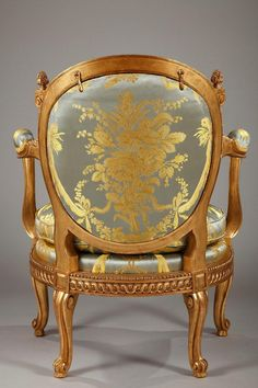 Gilt Charming Children's Gilded Wood Armchair After G. Jacob For Sale Georgian Furniture, Antique French Furniture, Antique Chairs, Tan Leather Armchair, Velvet Armchair, Wood Arm Chair, Dining Chair, Victorian Sofa, Overstuffed Chairs