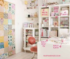 22 Craft Storage Solutions You Didn't Know You Needed! - My absolute favourite place to be is in the craft room, except when it's a complete mess. Craft Storage Containers, Craft Storage Solutions, Craft Storage Furniture, Craft Room Storage, Cheap Storage, Diy Storage, Storage Ideas, Rubber Stamp Storage, Small Craft Rooms