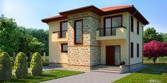 """Вижте тази уникална къща на 2 етажа !!! Къща """"Катерина""""  с РЗП 179м2 #пловдив #архитектура #проект #дизайн Mansions, Studio, Architecture, House Styles, Minecraft, Home Decor, Arquitetura, Decoration Home, Manor Houses"""