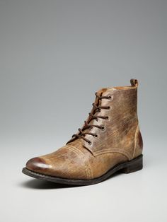 JD Fisk  Distressed leather Lennon lace up boots  I really like these Cute