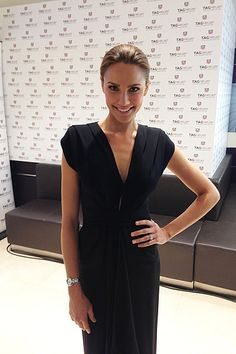"""Tag Heuer launch party, Melbourne. Carla Zampatti dress, Tag Heuer watch."""