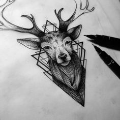 Aujourd'hui En cours… Work in progress… Burpibrebzy Www. Up Tattoos, Nature Tattoos, Forearm Tattoos, Black Tattoos, Body Art Tattoos, Sleeve Tattoos, Tatoos, Stag Tattoo Design, Tattoo Designs