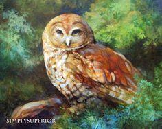 Short Eared Owl Print by SimplySuperior on Etsy