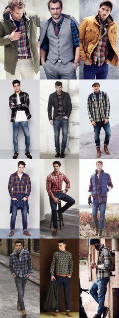 Ways To Wear: Men's 2014 Autumn/Winter Check/Tartan Trend: 3. The Check Shirt Lookbook Inspiration