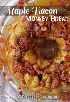 This Maple Bacon Monkey bread is our go-to Christmas morning breakfast. It is easy and soooo tasty! Your family will love it.