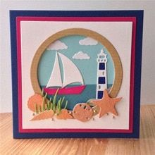 InLoveArts 2018 New Arrival Dolphin Lighthouse Metal Cutting Dies for Scrapbooking DIY Card Stencil Craft Dies(China) Masculine Birthday Cards, Birthday Cards For Men, Masculine Cards, Boy Cards, Kids Cards, Cricut Cards, Stampin Up Cards, Tarjetas Stampin Up, Impression Obsession Cards