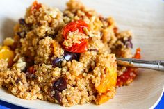 Quinoa with Roasted Tomatoes, Walnuts, and Olives