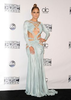 Best Dressed: Jennifer Lopez Stuns at the 2015 American Music Awards—See All 10 of Her Looks! American Music Awards, Sexy Outfits, Dress Outfits, Red Carpet Dresses, Blue Dresses, Jennifer Lopez Red Carpet, Gq, Kim Kardashian, Hollywood Red Carpet