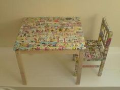 By Lauren Flanagan     Decoupage Dresser Drawers - Daniele Lug  Decoupaging furniture is a great way to spruce up old or unfinished  items...