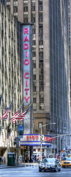 Radio City Music Hall,  Sixth Avenue and 50th Street.  NEW YORK CITY.