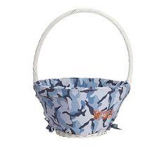 Camo Easter Basket Liner Blue, Large