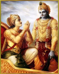 Bhagavad Gita - Arjuna and Krishna