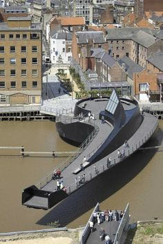 Love this! modern twist on the foot bridge!Scale-Lane-Bridge-by-McDowell-Benedetti-Architects