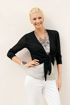 The Convertible Sweater - chic-as-can-be & lighter-than-light #chicos
