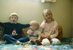 Michaela is the oldest child here. I love this picture. She looks so happy. With Brother Alex and Sister Libby.