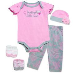 """Baby Essentials Daddy's Little Love 5 Piece Layette Set - Pacesetter - Babies """"R"""" Us"""