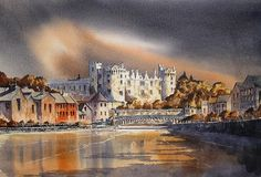 The famous Butler Castle at Kilkenny City. Evening light falls across the castle and the river Nore, a dramatic skyline dominates this true medieval Irish city. Bank Of America, Fine Art America, The Big Hit, True Art, Printing Companies, Dublin Ireland, Art Fair, All Print, How To Be Outgoing