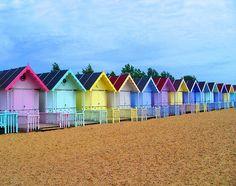 Beach Huts - beach cabanas in Essex, England - Essex Beach, Surf Mar, British Seaside, Seaside Uk, Beach Cabana, Beach Shack, Am Meer, Beach Cottages, Cabanas