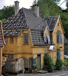 an old house in Nesttun, Norway, near Bergen
