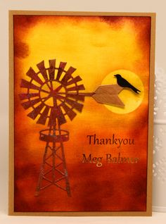 """Thank You card for web crafting supply store """"Whole Lotta Happy"""" www.wholelottahappy.com.au what a wonderful store and the service is second to none !! This is also an Ultimate Crafts Australiana Die."""