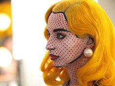 Lichtenstein Painting  This girl made herself look like one of the comic book characters  that Roy Lichtenstein used to paint. Time consuming? Yes. But well worth it.    Read more: http://www.teen.com/2012/10/12/random-stuff/creative-halloween-costumes-2012/#ixzz2LaFFihwY