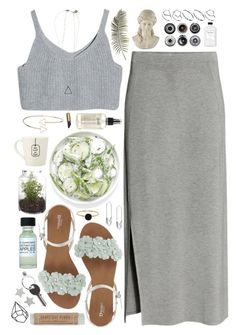 """Grey is the new clean"" by tina-z ❤ liked on Polyvore featuring H&M, Topshop, Universal Lighting and Decor, Scotch & Soda, SELECTED, ASOS, Ella Doran, Ron Dorff, philosophy and Maison Margiela"