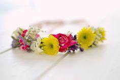 DIY corona de flores / flower crown