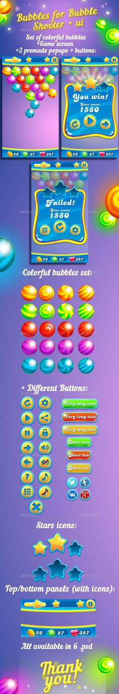 Bubbles For Bubble Shooter Game + UI kit | Download http://graphicriver.net/item/bubbles-for-bubble-shooter-game-ui-kit/13813078?ref=sinzo