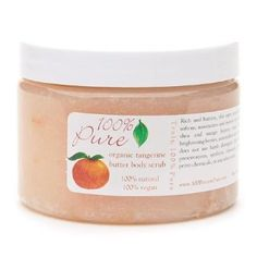 100% Pure Body Scrub  Organic Tangerine Butter  by 100 Percent Pure